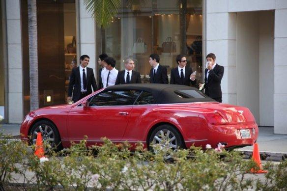 Beverly Hills Red Bentley