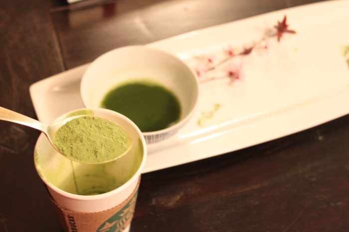 "Evelina Galli's favorite Green ""Matcha "" tea"