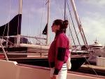 Evelina Galli sailing away