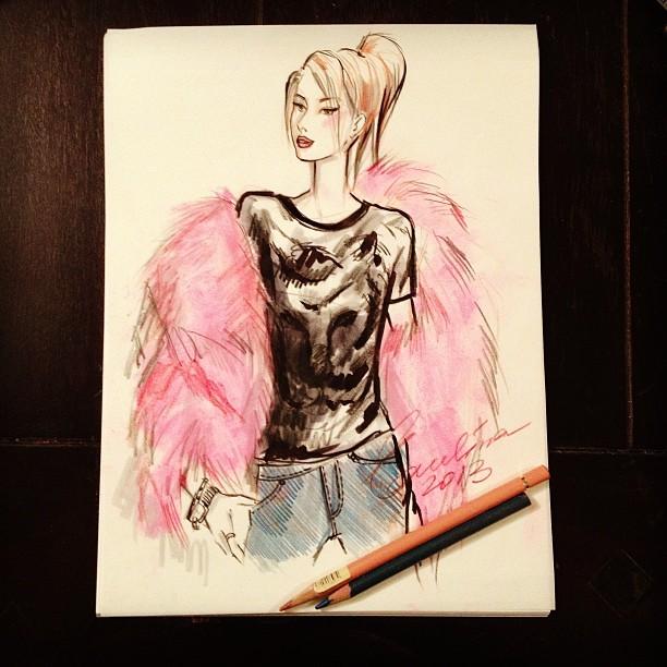 Evelina Galli sketch