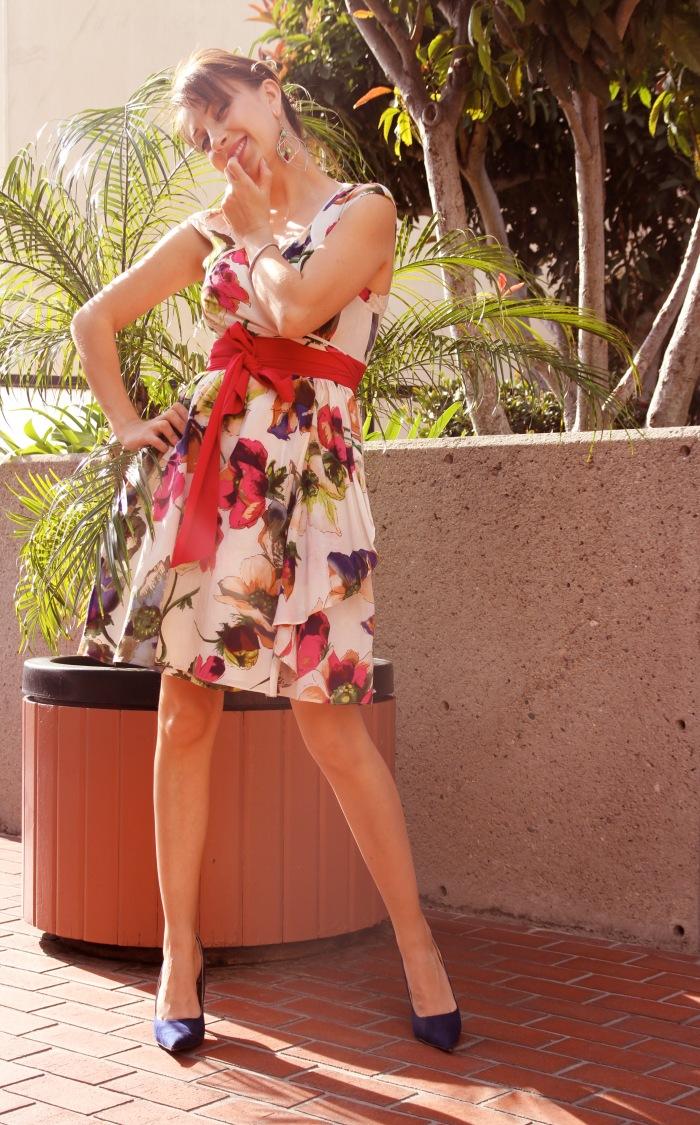 Evelina Galli in a 50s dress